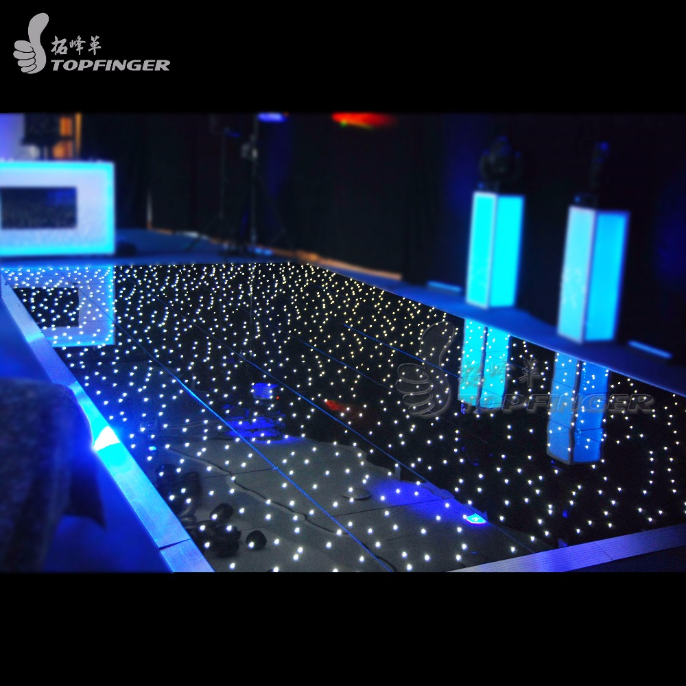 Best Price Wedding RGB Illuminated Portable Disco White Starlit LED Dance Floor With Light