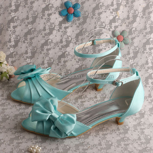 Mint Green Big Bow Sandals Designer