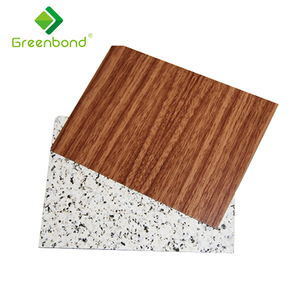 Greenbond rust waterproof interior wall cladding texture panel with different