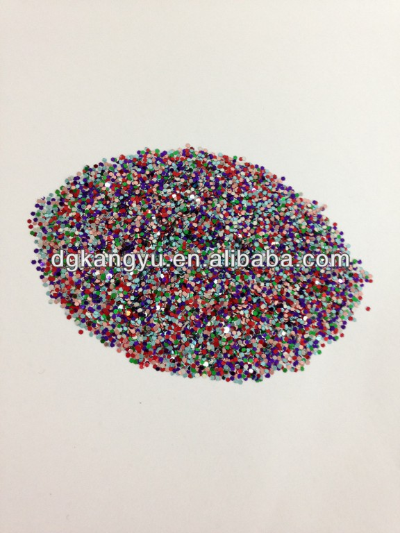 shiny bulk mixed color glitter powder