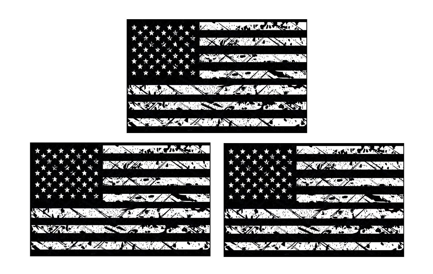 """American Subdued Mirrored Flag Decal Tactical Military Car Sticker Decal 5/"""""""