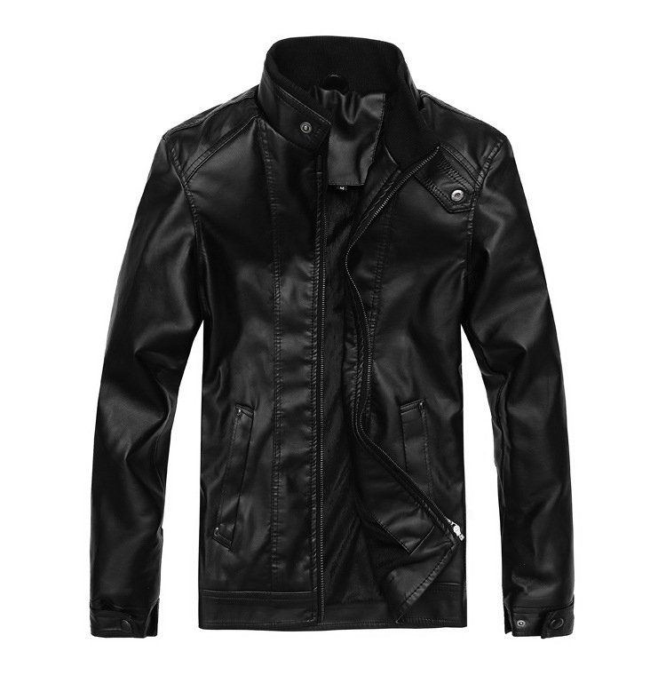 Men's leather cultivate one's morality and pile of 2014 autumn winters automotive leather high-grade washing leather jacket