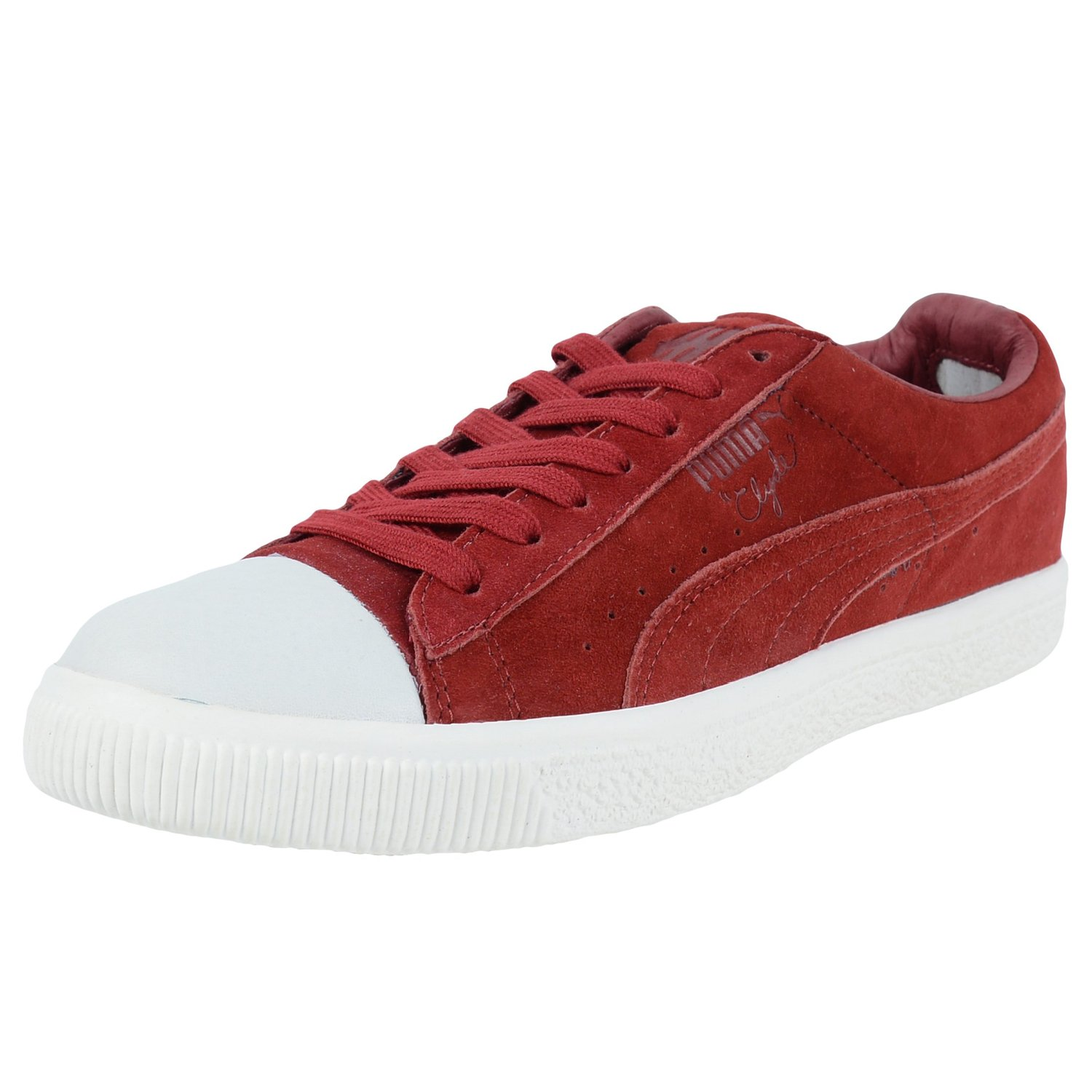 b41adff67869 PUMA CLYDE X UNDEFEATED COVERBLOCK SNEAKERS RIO RED WHISPER WHITE 352778 01