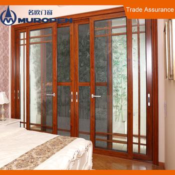 Aluminum Smoked Glass Interior Doors Aluminum Soundproof Beveled