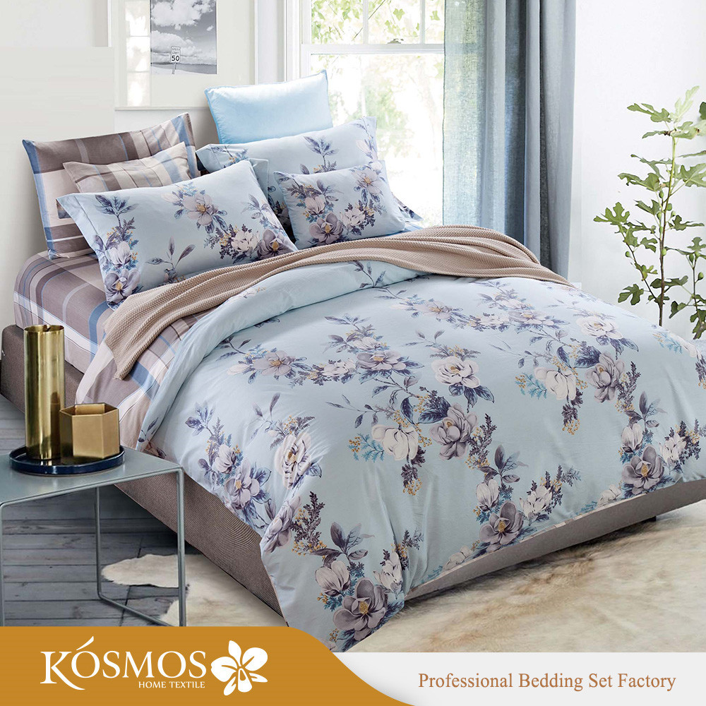 4 piece customized high quality Bedding printed 100% cotton duvet sets