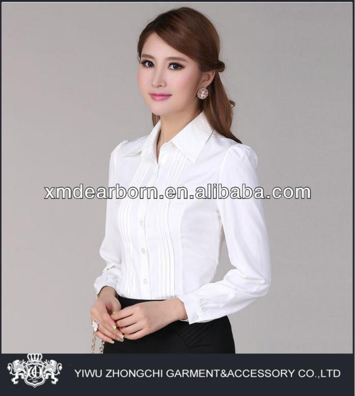 white formal shirt for women custom shirt