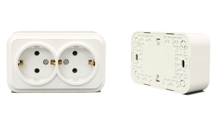Hot Sale White 64 120mm Eu Style Plug Receptacle Abs