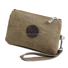 Fashion High Quality Natural Color Cotton Wallet For Unisex