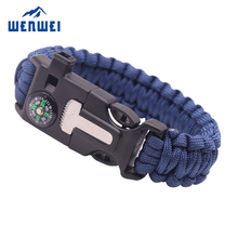 Amazon Hot Selling Custom Logo Outdoor Equipment Emergency Survival Paracord Bracelet