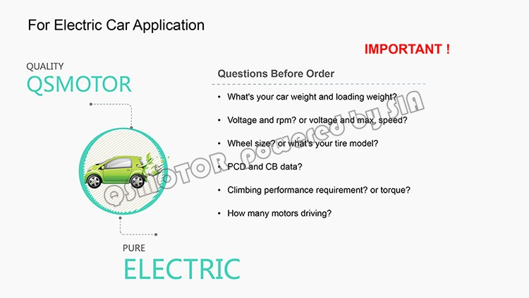 Qs Dual 8kW 8+8kW Hub Motor Electric Hybrid Car Conversion kit kits