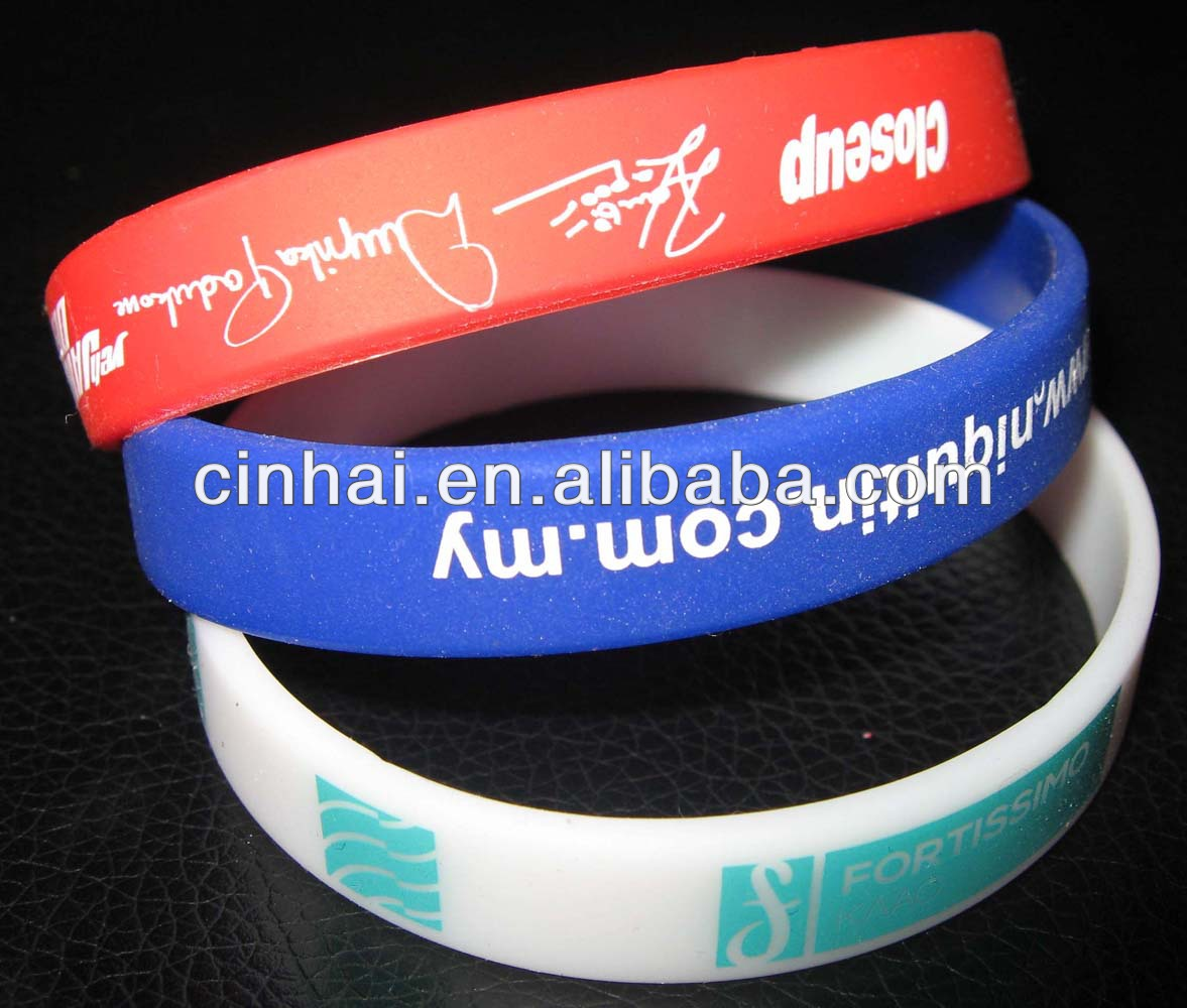 manufacturer supply the cheapest custom fashion silicone bracelet