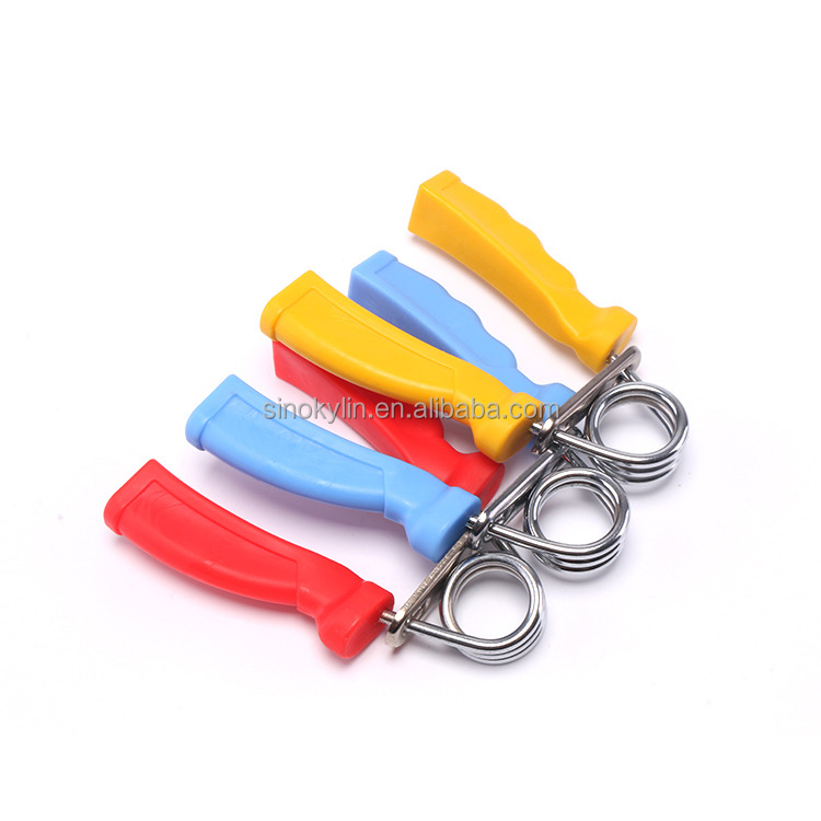 Hot sale fitness equipment plastic hand grips with Iron springs for finger strengther