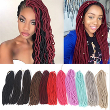 2017 New products 18 inches dreadlocks braids synthetic hair faux locs crochet havana mambo twist
