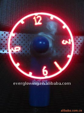 led flashing hand fan