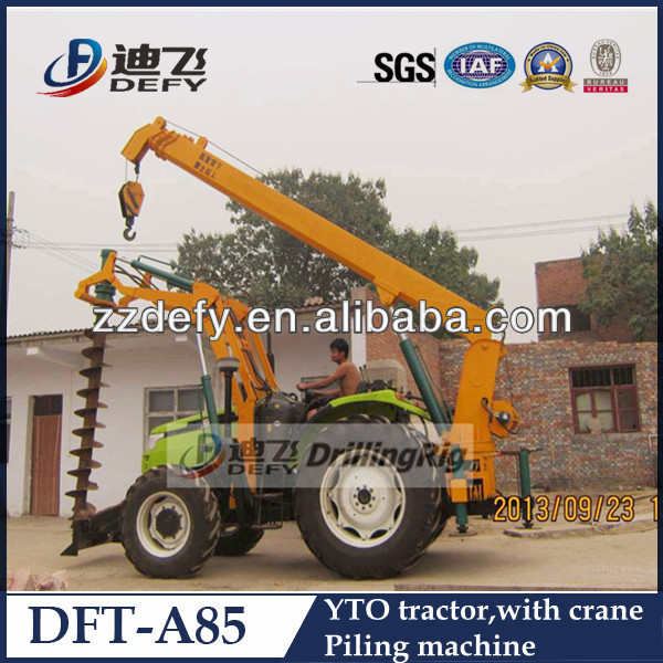 YTO tractor mounted screw piles machine for digging hole