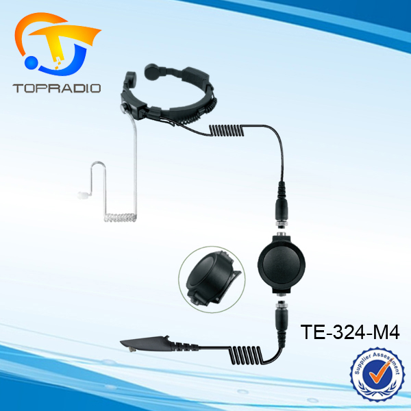 Jari PTT Walkie Talkie Headset Headphone untuk Motorola M4 GP328 HT1250 MTX900 PRO7150 PTX780 Tenggorokan Getaran Earphone