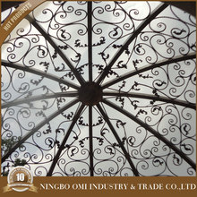 Professional manufacture Decorative wrought iron dome for garden gazebo