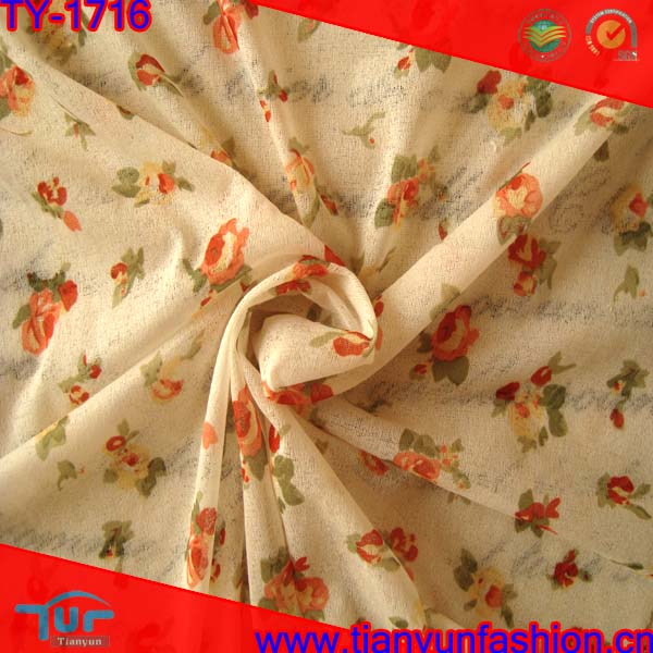 soft hand natural microfiber light weight printing polyester fabric