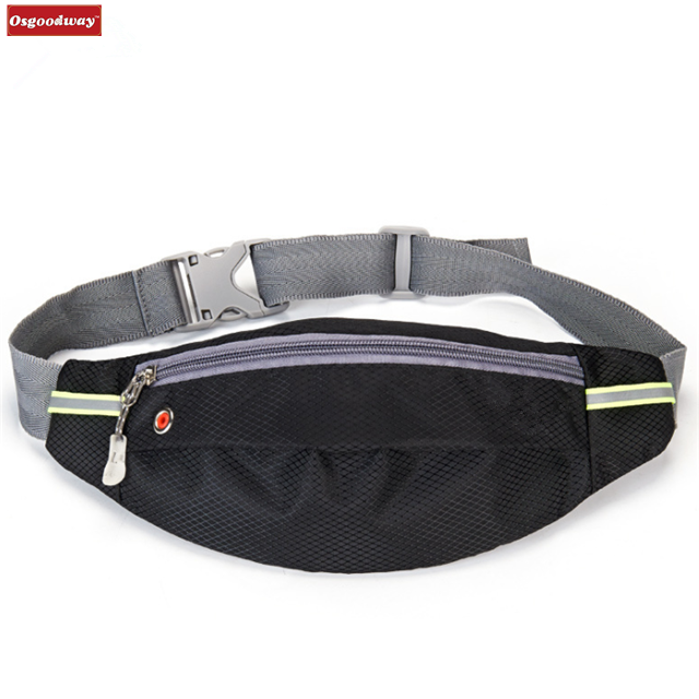 Osgoodway12 Outdoor Waistpack Running Belt Waterproof Bum Bag Cycling Waist Bags for Hiking