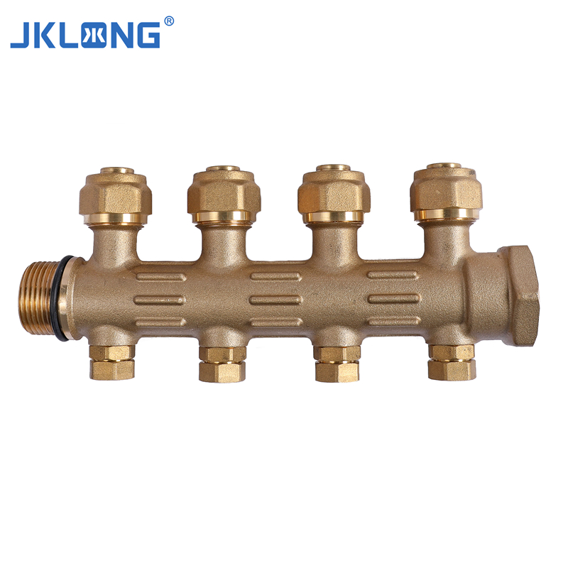 Industry Brass Forging Water Heater Brass Water Manifold HVAC System