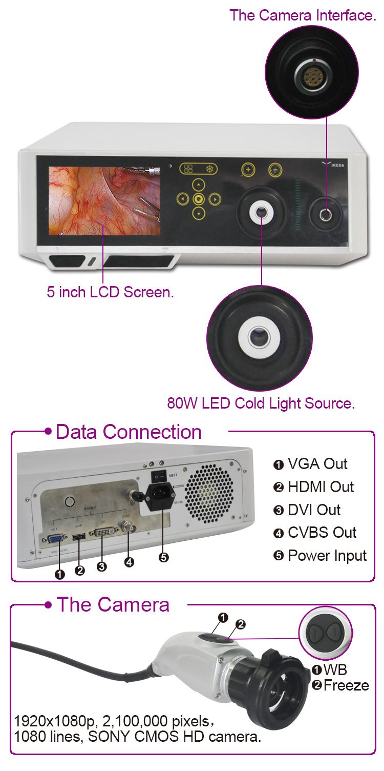 Complete set endoscopy laparoscopy equipments machine