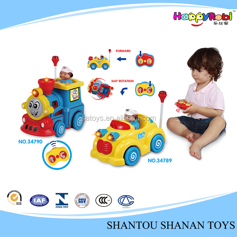 ABS electronic car cartoon rc train for kids