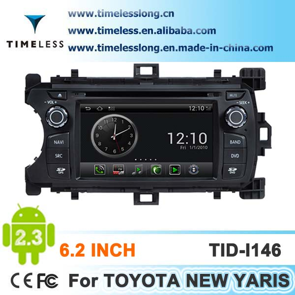 Android system 2 din Car DVD for TOYOTA New YARIS with GPS, Ipod, DVR,digital TV box, BT, 3G/Wifi(TID-I146)