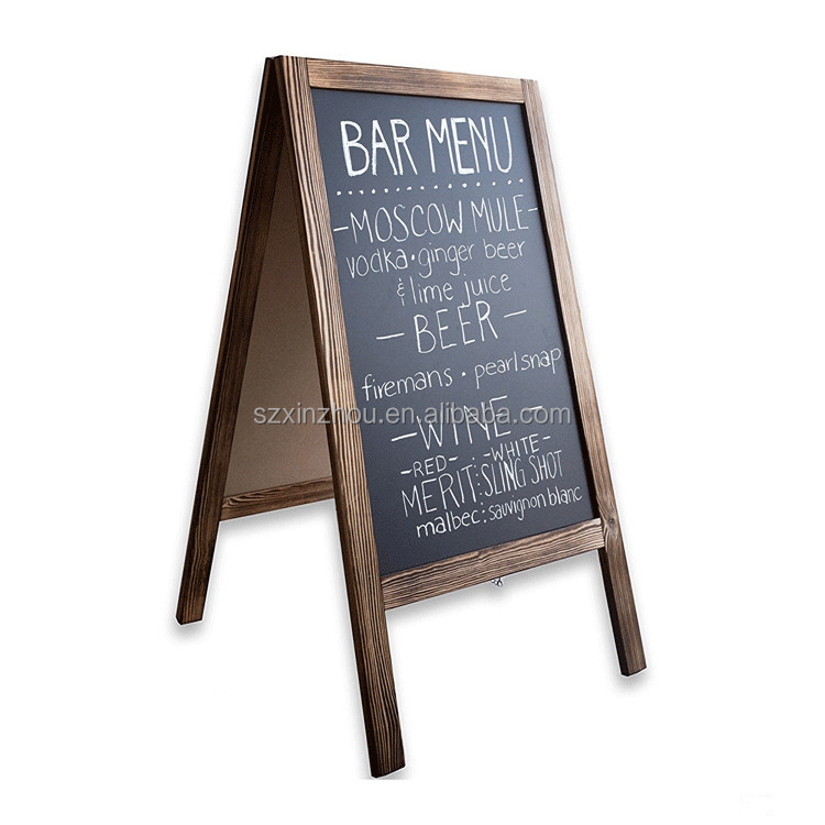 Double side standing chalkboard for restaurant