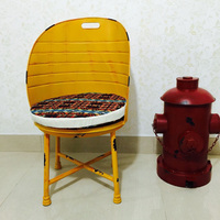 Industrial loft oil drum design ottoman Special design club chairs cafe chairs