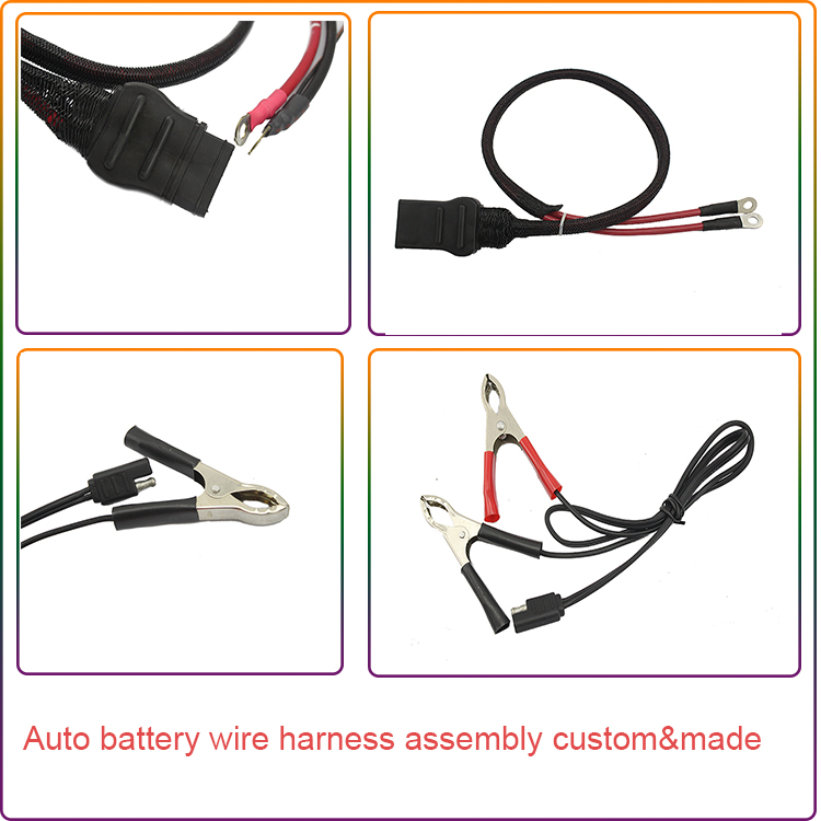 Custom 6AWG auto battery cable assembly battery wire harness