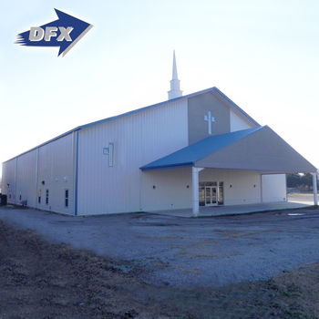China Customized Design Galvanized Metal Prefab Steel Structure Church Building