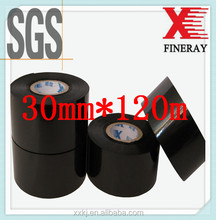 Fineray brand black FC3 30mm*120m Jumbo roll hot coding foil to print date or batch number on hot stamping date coder