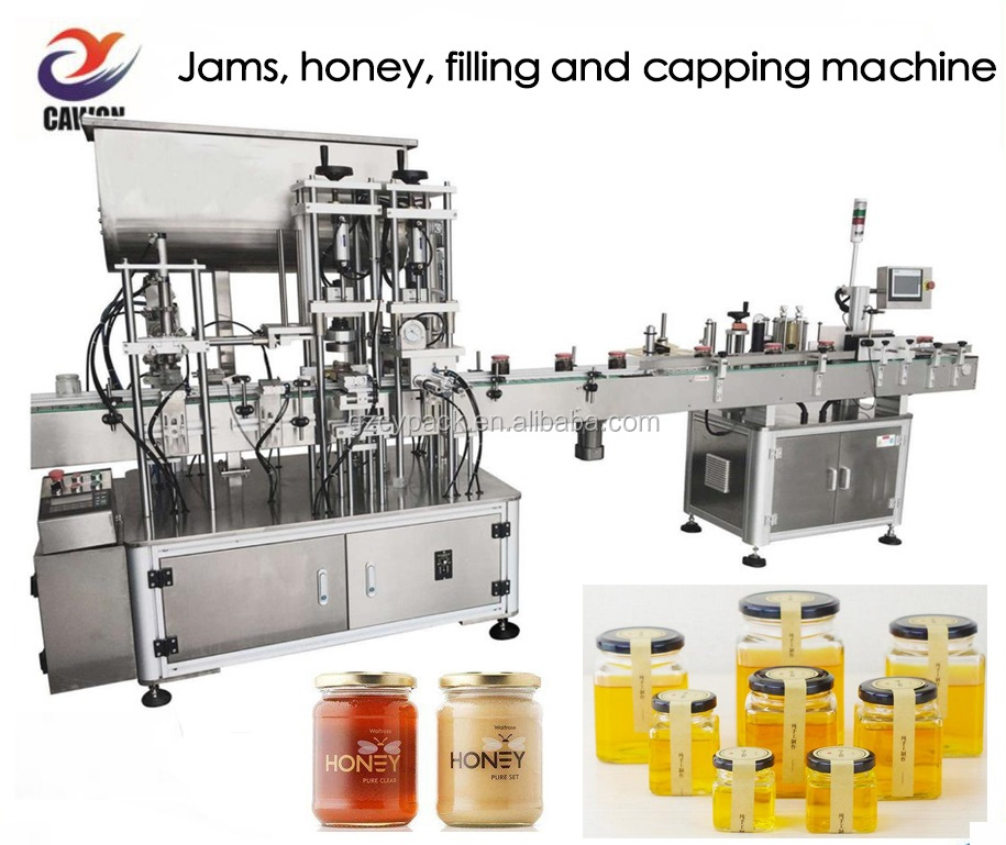 bottled tomato sauce jam Cooking oil washing filling capping labeling packing machine