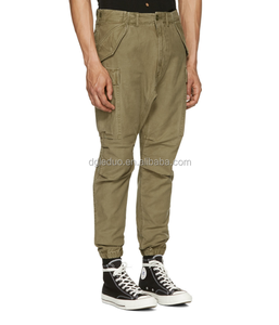 Relaxed-fit wholesale cargo pants 10 pockets cotton twill cargo pants