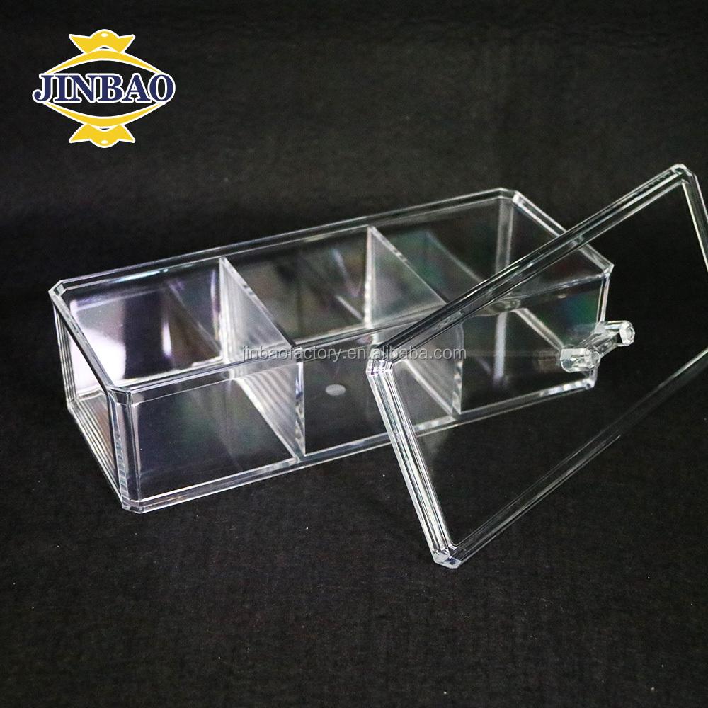 Jinbao Custom Hinged Lids Clear Acrylic Box With Dividers Buy