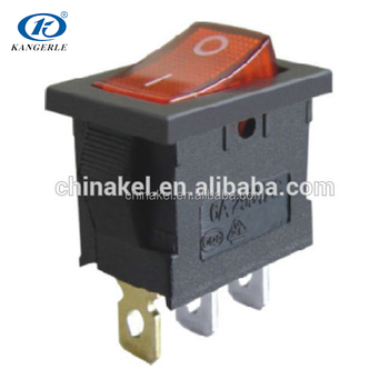 Micro 3 Ways Red 16a Rocker Switch 16a 250v T125 Enec Switch 3 ...