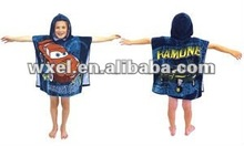 Funny kids hooded beach towel