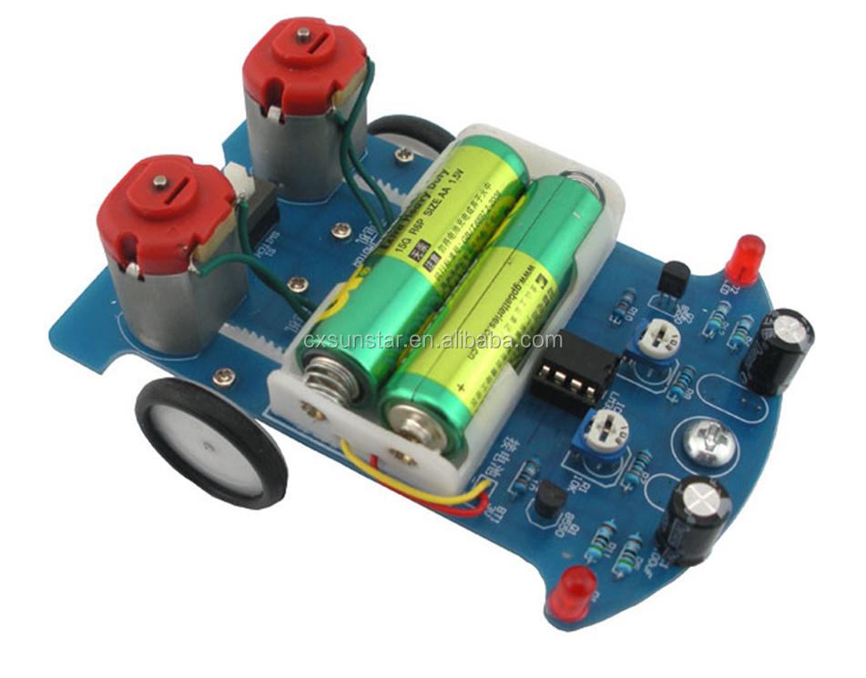 New Intelligent Tracking Smart Car Suite DIY Kit TT Motor Electronic Component