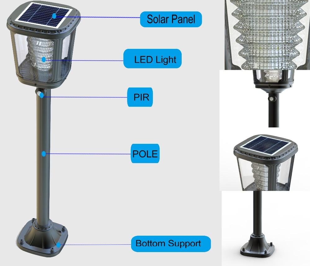 Best lawn solar led lights for garden solar post lamp for Best lawn lights