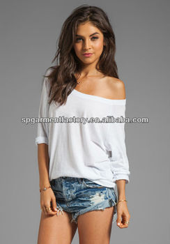 3ab207442ae23 Plain Off Shoulder Top