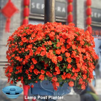 Plastic Hanging Flower Pot Lamp Post Greening Stackable