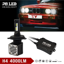 High/Low Beam H4 80w 8th Gen LED Car Headlight - H4 8000lm P8 LED Auto Headlights