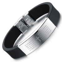 Stainless Steel Engraved Id Energy Cheap Custom Silicone Bracelet