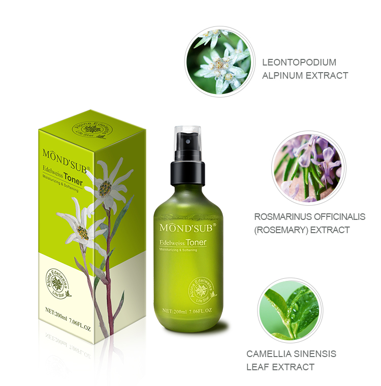 New best product natural organic skin care face spray moisturizing nourishing whitening firming facial toner