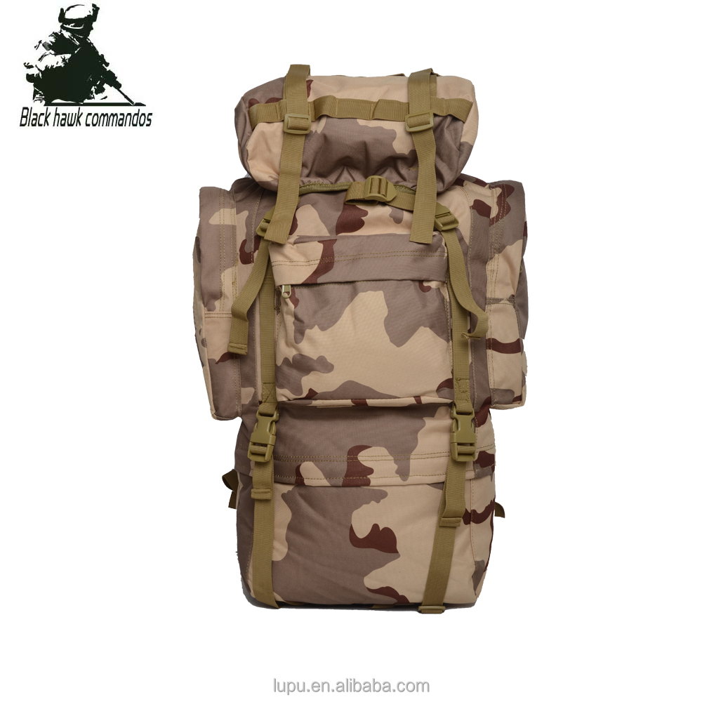 China Manufacture Large Capacity Military Army Tactical Climbing Hiking Backpack