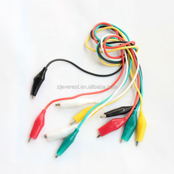 Crocodile Grip Lead Test Wire Colors Electronic Circuit Project ...