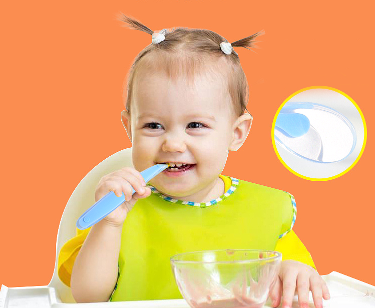 PP food grade mini tableware silicone mixing sugar spoon FOR baby feeding
