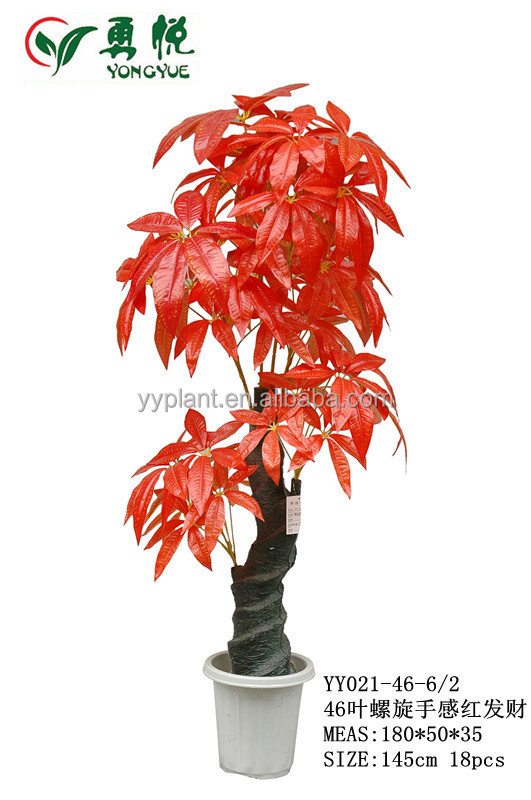 rouge artificiel petit bonsa plantes en plastique plantes d 39 int rieur faux arbre d 39 argent. Black Bedroom Furniture Sets. Home Design Ideas