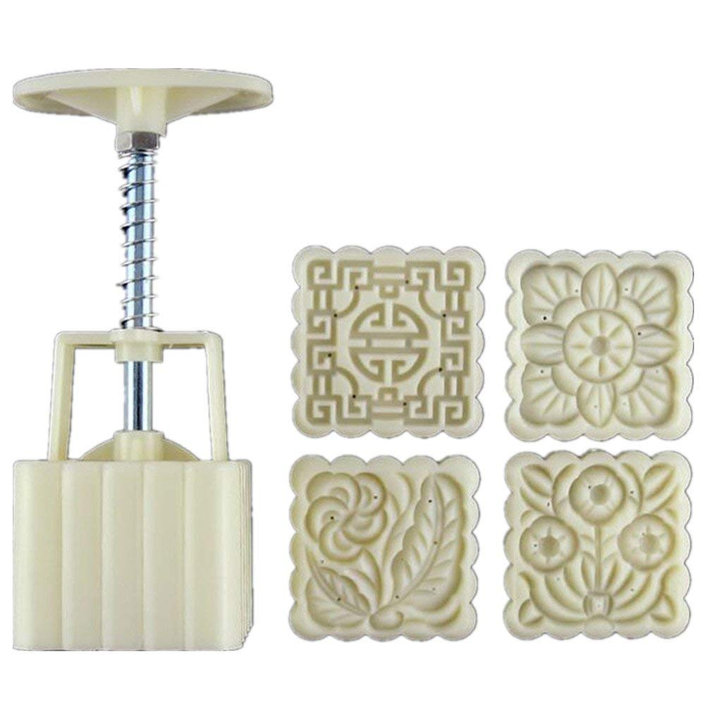 Moon Cake Mooncake Decoration Mould Hand-Pressure ABS Material Moon Cake MoldBiscuit Mold 75g