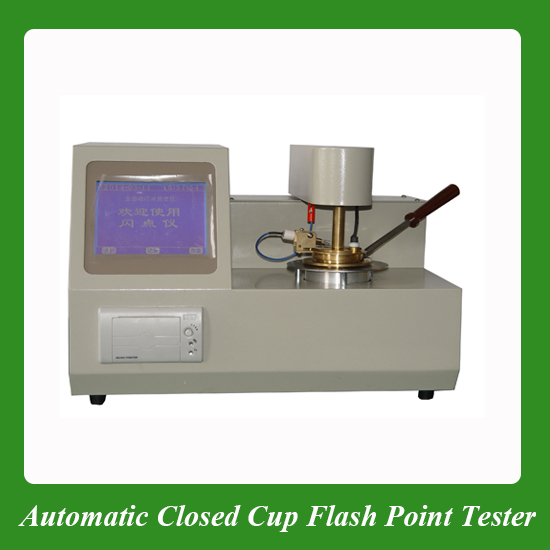 Petroleum oil closed cup flash point tester test equipment